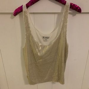 Sequin cropped tank